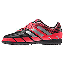 Buy Adidas Children's Neoride III Astroturf Shoes, Black/Red Online at johnlewis.com