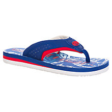 Buy Animal Children's Jekyl Logo Flip Flops, Blue Online at johnlewis.com