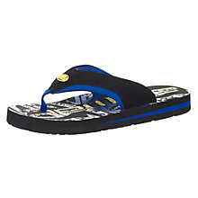 Buy Animal Children's Jekyl Toepost Flip Flops, Black Online at johnlewis.com