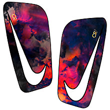 Buy Nike Adult Mercurial Lite CR7 Shin Guards, Lava Glow/Metallic Silver Online at johnlewis.com