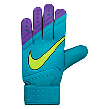 Buy Nike Match Goalkeeper Football Gloves, Blue Online at johnlewis.com