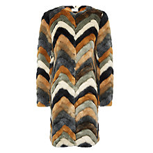 Buy Urbancode Vicktoria Faux Fur Coat, Multi Online at johnlewis.com