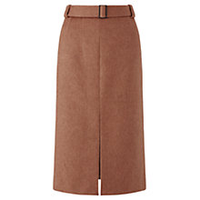 Buy Jigsaw Split Hem Pencil Skirt, Antique Rose Online at johnlewis.com