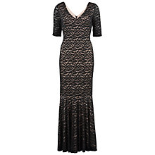 Buy Gina Bacconi Wool Handle Animal Mesh Fishtail Dress, Black Online at johnlewis.com