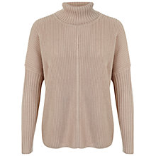 Buy Miss Selfridge Chunky Roll Neck Jumper, Camel Online at johnlewis.com