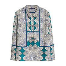 Buy Violeta By Mango Scarf Print Blouse, Green/Multi Online at johnlewis.com