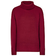 Buy Reiss Eaton Roll Neck Jumper, Crimson Online at johnlewis.com