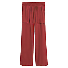 Buy Mango Flowy Palazzo Trousers, Dark Red Online at johnlewis.com