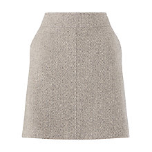 Buy Jigsaw Winter Herringbone Skirt, Grey Online at johnlewis.com