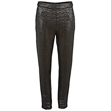 Buy Gina Bacconi Matt Sequin Trousers, Black Online at johnlewis.com