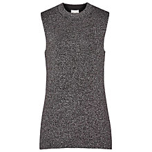 Buy Reiss Astrid Metallic Knitted Tank Top, Mocha Online at johnlewis.com