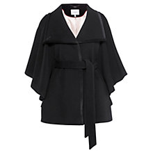 Buy Coast Copenhagen Wool Cape Coat, Black Online at johnlewis.com