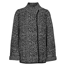 Buy Reiss Bonded Knit Jacket, Grey Black Online at johnlewis.com