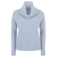 Buy Mint Velvet Marl Cowl Neck Knit, Blue Online at johnlewis.com