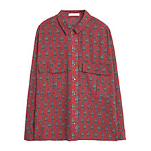 Buy Mango Paisley Print Shirt, Dark Red Online at johnlewis.com