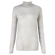 Buy Jigsaw Sheer Jumper, Light Grey Online at johnlewis.com