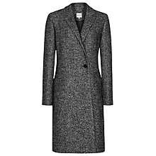 Buy Reiss Zanna Bonded Crombie Coat, Grey/Black Online at johnlewis.com