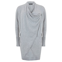 Buy Mint Velvet Drape Cardigan, Grey Online at johnlewis.com