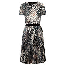 Buy Karen Millen Marble Print Dress, Grey/Multi Online at johnlewis.com