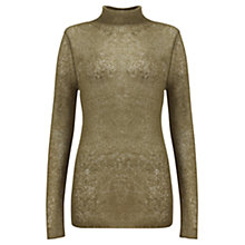 Buy Jigsaw Sheer Mohair Jumper, Khaki Online at johnlewis.com