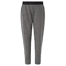 Buy Jigsaw Herringbone Track Trousers, Dark Grey Online at johnlewis.com
