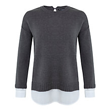Buy Miss Selfridge Long Sleeve 2 in 1 Jumper, Dark Grey Online at johnlewis.com