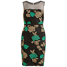 Buy Gina Bacconi Embroidered Net Dress, Green Online at johnlewis.com