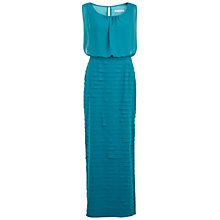 Buy Gina Bacconi Chiffon Layered Maxi Dress, Peacock Online at johnlewis.com