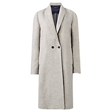 Buy Jigsaw Melange Knit Back Coat, Pale Grey Online at johnlewis.com