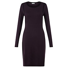 Buy Jigsaw Merino Contour Wool Dress, Plum Online at johnlewis.com