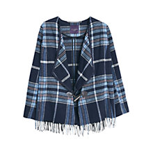 Buy Violeta by Mango Wool-Blend Cape, Navy Online at johnlewis.com
