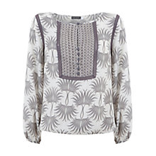 Buy Mint Velvet Olivia Print Bib Detail Blouse, Multi Online at johnlewis.com