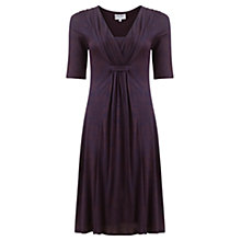 Buy Jigsaw Ink Ditsy Fit and Flare Dress, Plum Online at johnlewis.com