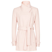 Buy Reiss Bruni Short Wrap Coat, Pink Online at johnlewis.com