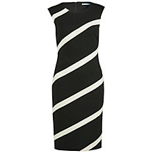 Buy Gina Bacconi Soft Handle Banded Ponti Dress, Black/Ivory Online at johnlewis.com