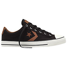 Buy Converse Star Player Men's Shoes, Grey/Chocolate/Egret Online at johnlewis.com