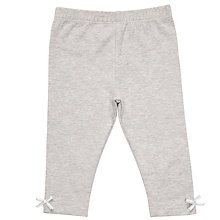 Buy John Lewis Baby Bow Leggings, Charcoal Online at johnlewis.com