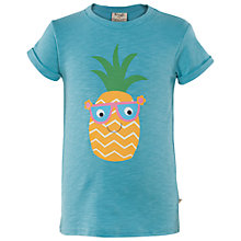 Buy Frugi Organic Children's Praa Pineapple T-Shirt, Blue Online at johnlewis.com