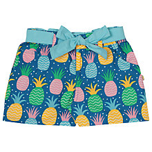 Buy Frugi Organic Girls' Martha Pineapple Print Shorts, Blue Online at johnlewis.com