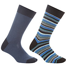 Buy John Lewis Multi Stripe Socks, Pack of 2 Online at johnlewis.com