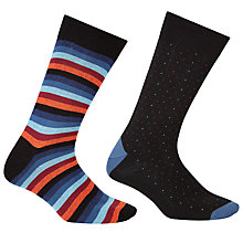 Buy John Lewis Made in Italy Clean Stripe and Dot Socks, Pack of 2, Multi Online at johnlewis.com