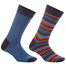 Buy John Lewis Made in Italy Multi Stripe Socks, Pack of 2 Online at johnlewis.com