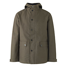 Buy Jigsaw Waxed Cotton Canvas Hooded Jacket, Olive Online at johnlewis.com
