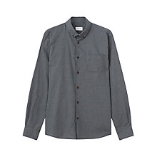 Buy Jigsaw Mini Check Slim Fit Shirt, Blue Online at johnlewis.com