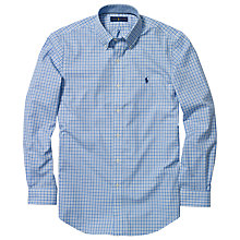 Buy Polo Golf by Ralph Lauren Checked Shirt, Navy/Powder Online at johnlewis.com