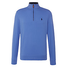 Buy Polo Golf by Ralph Lauren Half Zip Jersey Top, Regal Blue Online at johnlewis.com