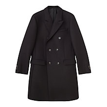 Buy Jigsaw Double Faced Tailored Double Breasted Coat, Black Online at johnlewis.com