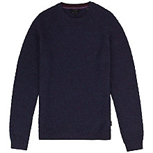 Buy Ted Baker Elecray Cotton Mix Jumper, Deep Purple Online at johnlewis.com