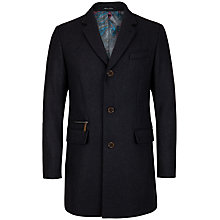 Buy Ted Baker T for Tall Bullhed Overcoat, Chacoal Online at johnlewis.com