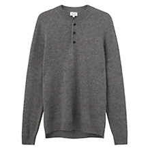 Buy Jigsaw Wool Cashmere Pique Henley Jumper Online at johnlewis.com
